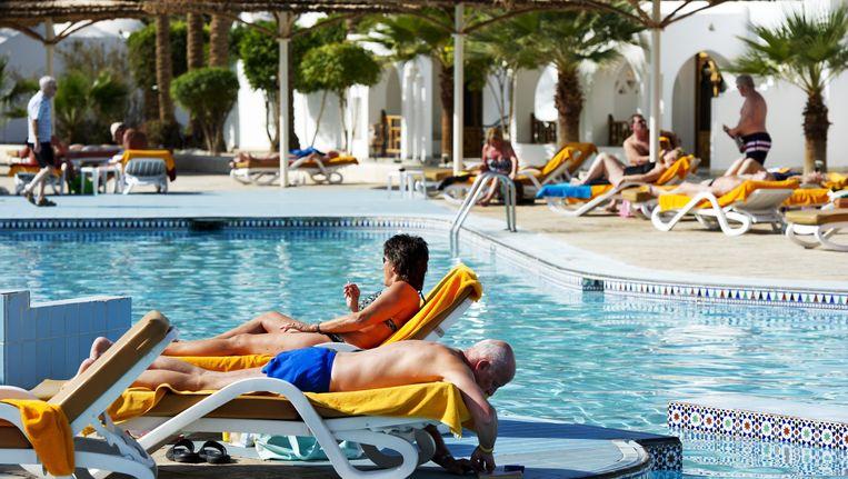 Toeristen in Sharm El Sheikh Beeld ANP