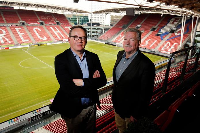 Ter illustratie: clubeigenaar Frans van Seumeren (r) met rvc-voorzitter Paul Verhoeff.