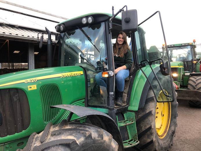 Sofie uit Hazerswoude-Rijndijk doet mee aan het boerenprotest.