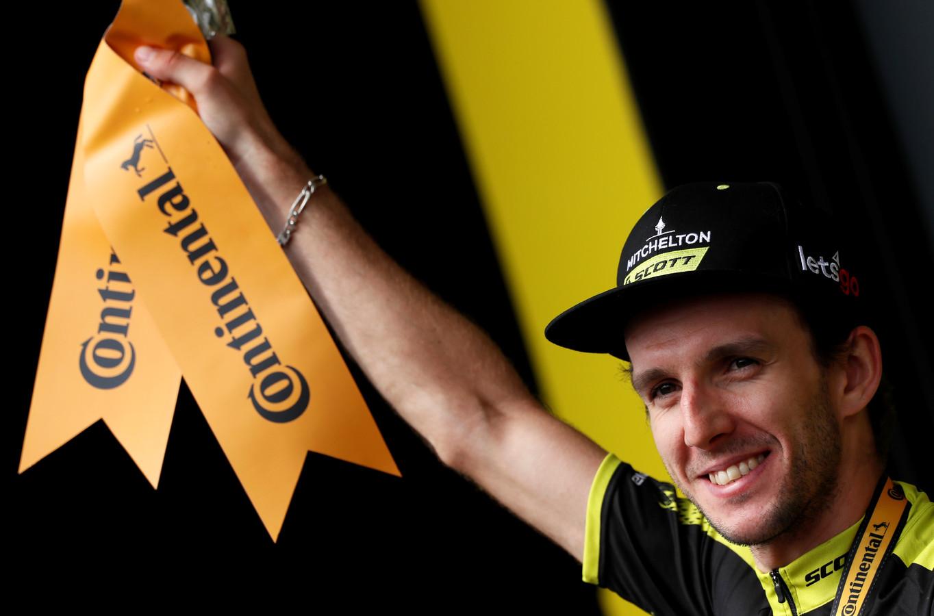 Adam Yates na zijn etappezege van vandaag.