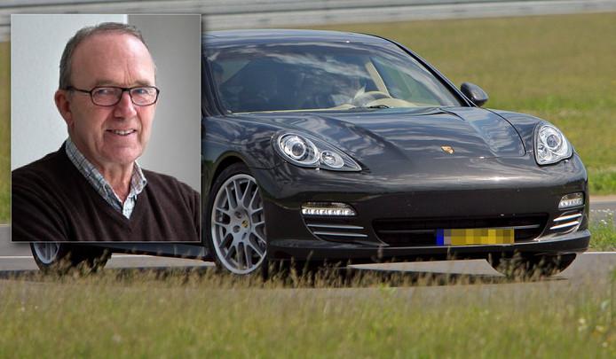 """Koos Spee (inzet) over de wegpiraat in de Porsche Panamera: """"De remweg is in dit geval 351 meter lang. Ontzettend veel."""""""