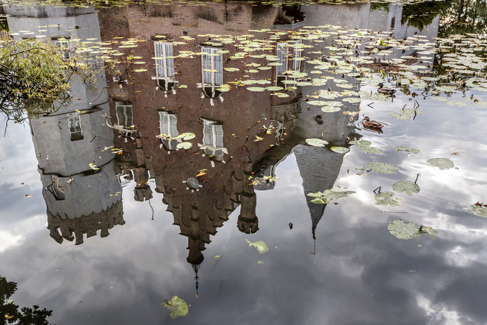 De gracht van kasteel Stapelen.