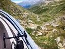 De beklimming van de Grote Sint-Bernard, aan de Zwitserse kant.