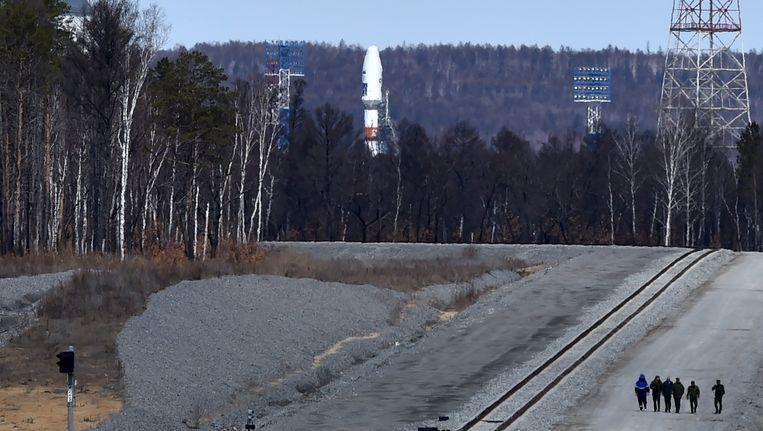 De nieuwe Russische ruimtevaartbasis in het uiterste oosten van Rusland. Beeld reuters