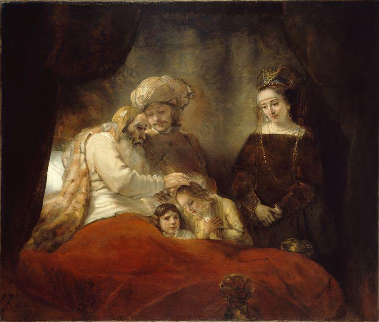 Rembrandt van Rijn, Jacob zegent de zonen van Jozef (1656), Staatliche Museen, Kassel. Beeld Heritage Images/Getty Images