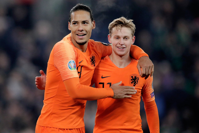Virgil van Dijk en Frenkie de Jong spelen komende zomer het EK met Oranje.