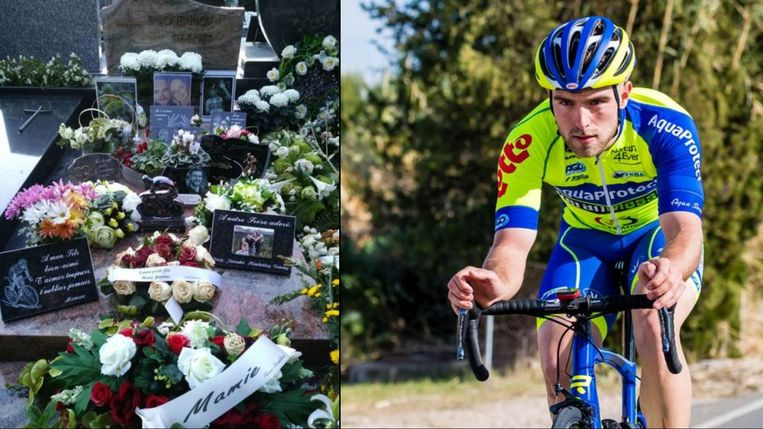 De fiets-tofee (centraal op de foto links) werd ontvreemd.