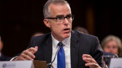 Voormalig FBI-vicedirecteur McCabe twee dagen voor pensioen aan de deur gezet