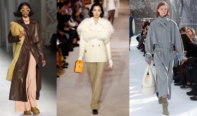 De modeshow van Bottega Veneta - Lanvin - Saint Laurent.