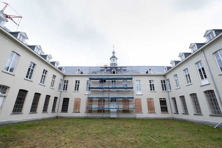 De renovatie van de Bernardusabdij is volop bezig.