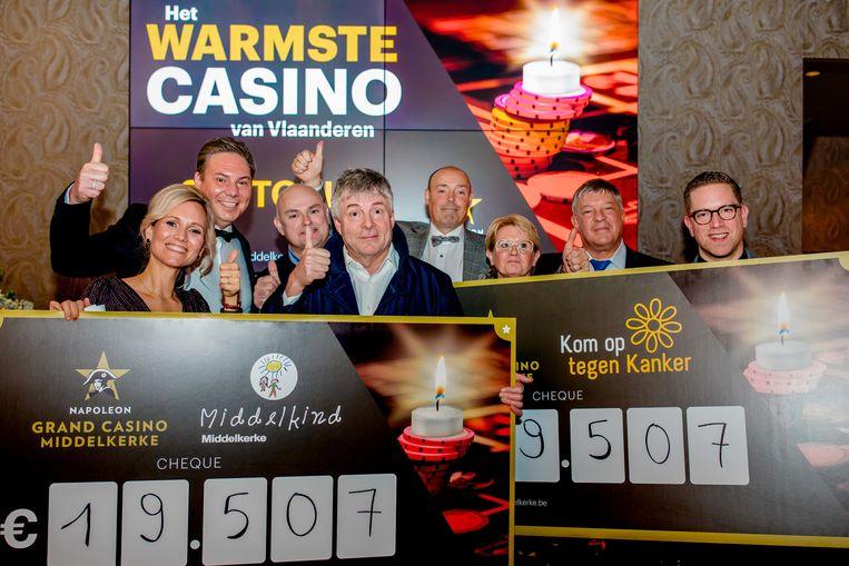 Casino Middelkerke toonde zich van haar meest gulle kant en schonk in totaal 39.000 euro aan twee goede doelen.