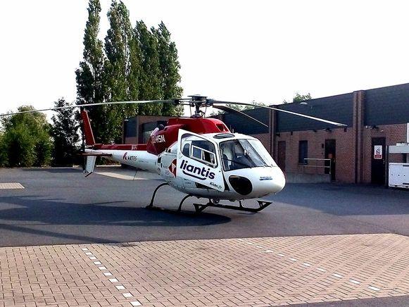 De MUG-heli landde op de parking van de Aldi.