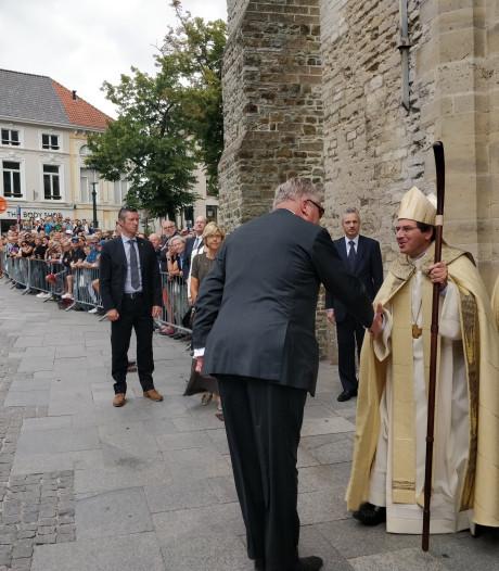Prins Laurent woont Te Deum bij in Brugge