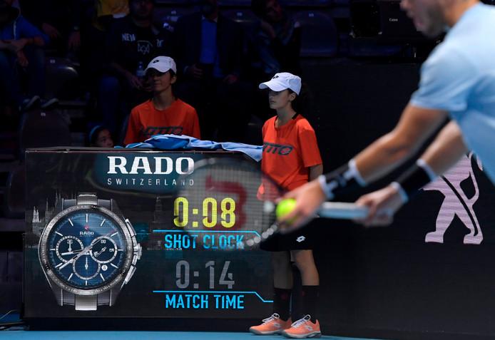De schotklok op de Next Gen ATP Finals.