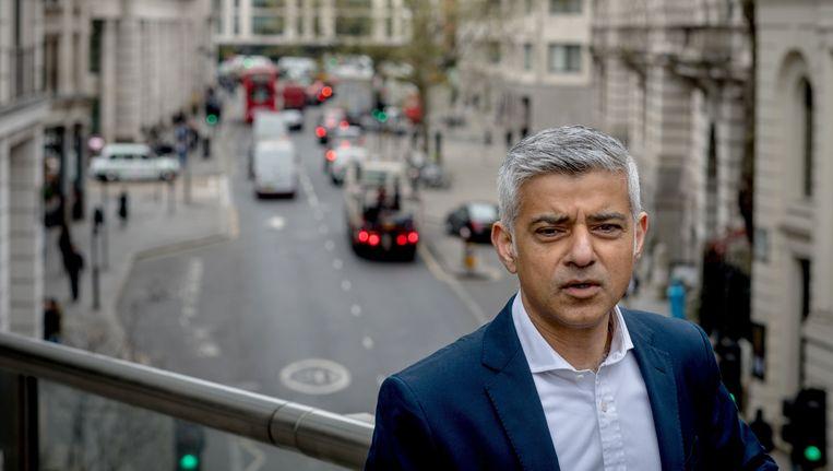 De Londense burgemeester Sadiq Khan.