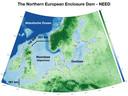 De Northern European Enclosure Dam (Need) zou de Noordzee afsluiten tussen Frankrijk en Engeland en tussen Schotland en Noorwegen
