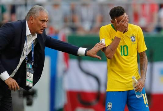 Tite en Neymar.