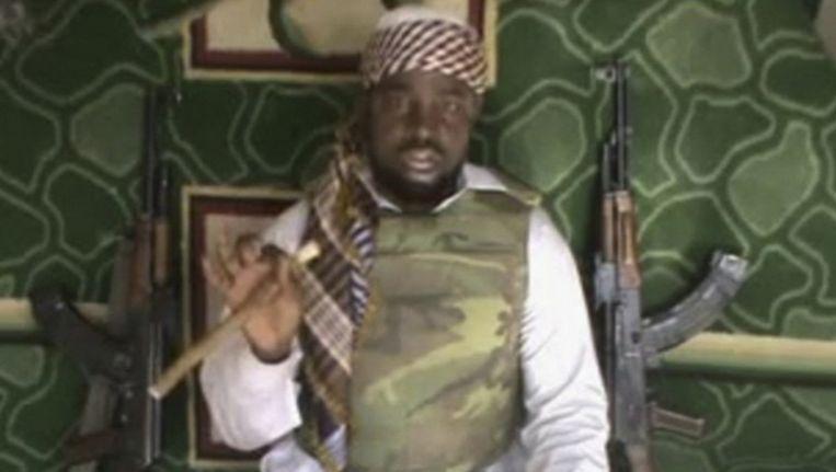 Boko Haram-leider Abubakar Shekau. Beeld ap