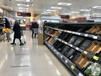 """""""Lege schappen in supermarkten Noord-Ierland door brexit"""""""