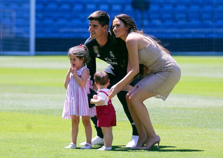 Courtois met ex Marta en kinderen Adriana en Nicolas.