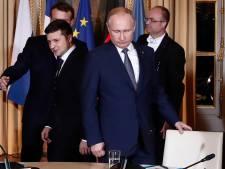 Poetin en Zelenski schudden elkaar de hand niet bij eerste ontmoeting