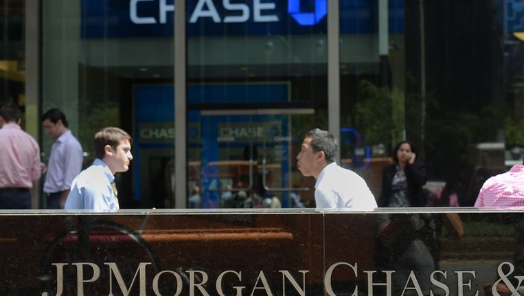 Het hoofdkantoor van JPMorgan Chase in New York. Beeld AFP
