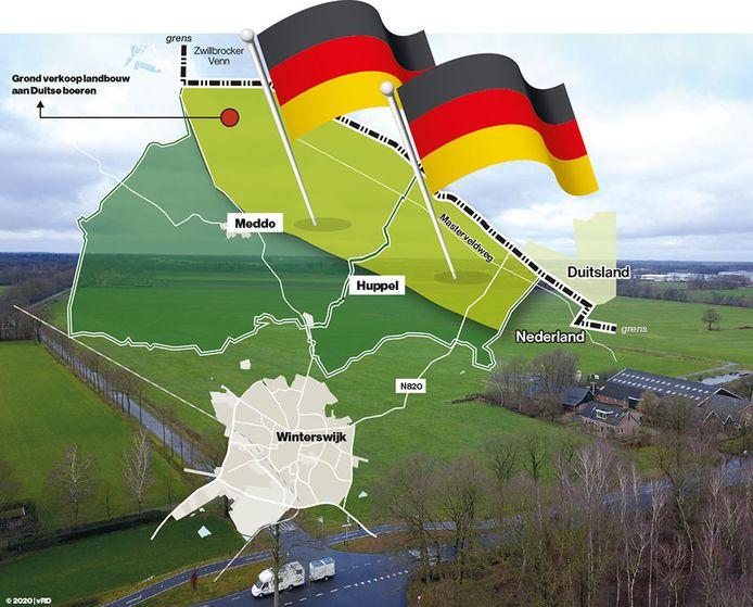 Bij boerenorganisatie LTO zijn ze niet blij met de Duitse belangstelling voor Nederlandse landbouwgrond.