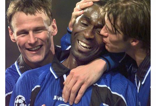 Andy Cole scoorde op 6 november 1997 drie keer in De Kuip.