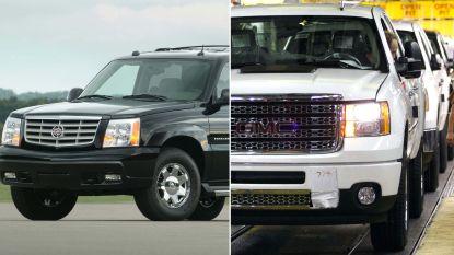 GM roept in VS 3,5 miljoen pick-ups en SUV's terug voor probleem met remmen
