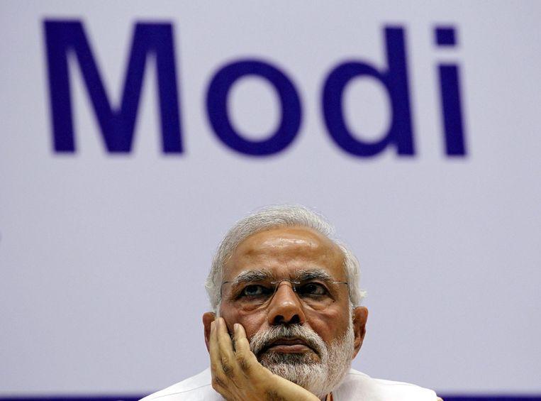 De Indiase minister-president Narendra Modi. Beeld reuters