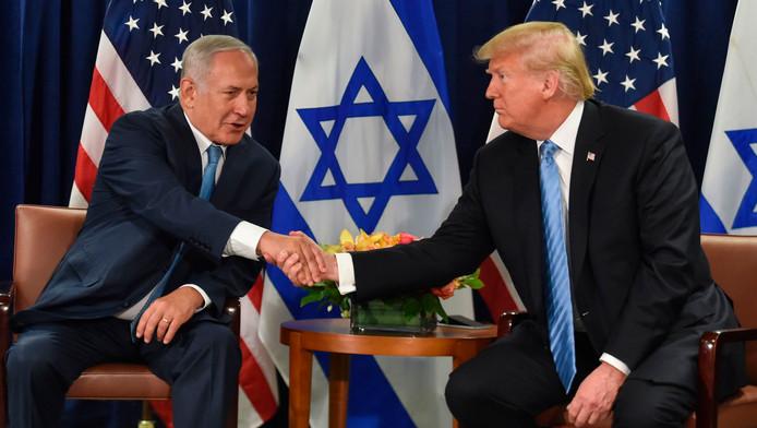Les présidents américain Trump et israélien Netanyahu à New York, en marge de l'Assemblée générale des Nations unies, le 26 septembre 2018.