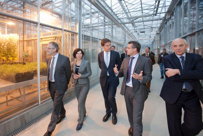 Premier Mark Rutte tijdens een eerder bezoek aan Wageningen