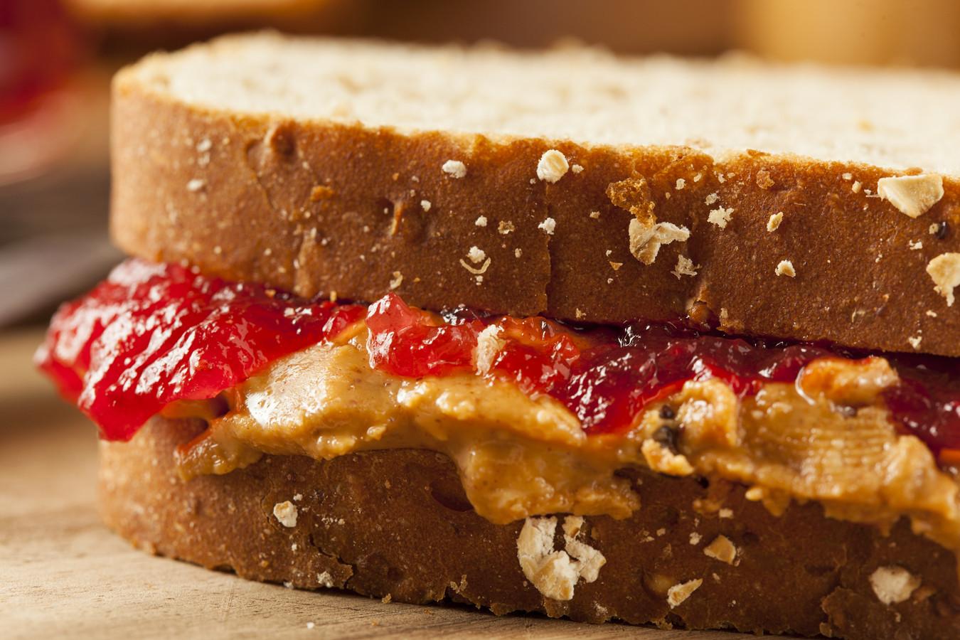 Een boterham met pindakaas en jam is een klassieker in Amerika.