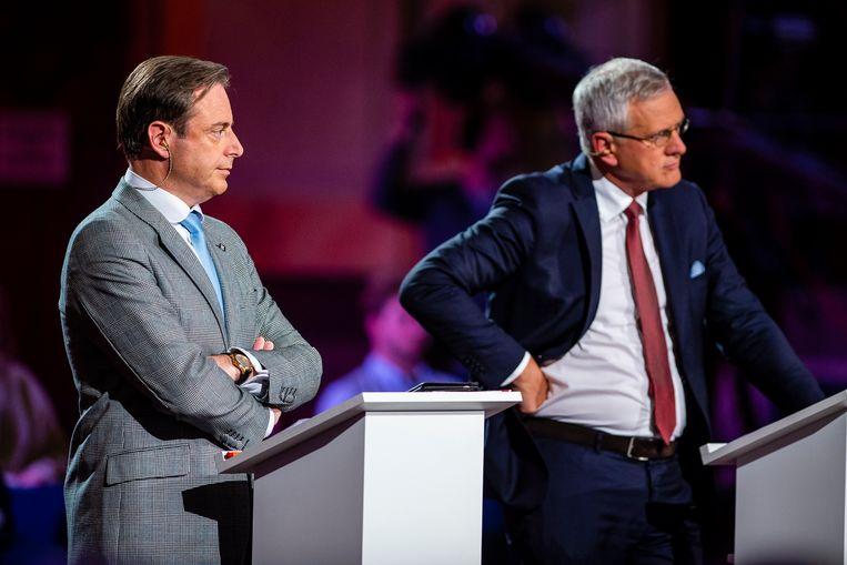 Bart De Wever en Kris Peeters vorig jaar tijdens een debat voor de gemeenteraadsverkiezingen.