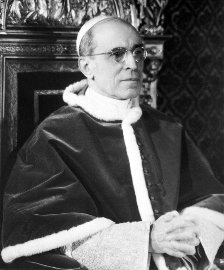 Portret van paus Pius XII (1876-1958) Beeld epa