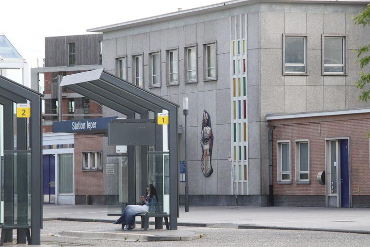De omgeving van het station in Ieper.
