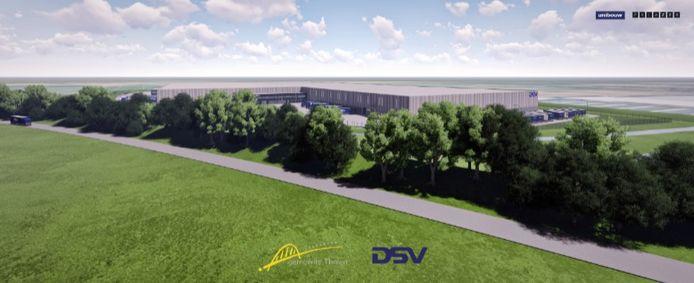 Impressie van het toekomstige gebouw van DSV op Welgelegen III
