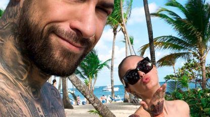 IN BEELD. Pommeline en Fabrizio genieten van de zon en van elkaar op tropische reis
