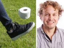 Met wc-papier spelen we ironisch, want zelf hamsteren we natuurlijk niet...