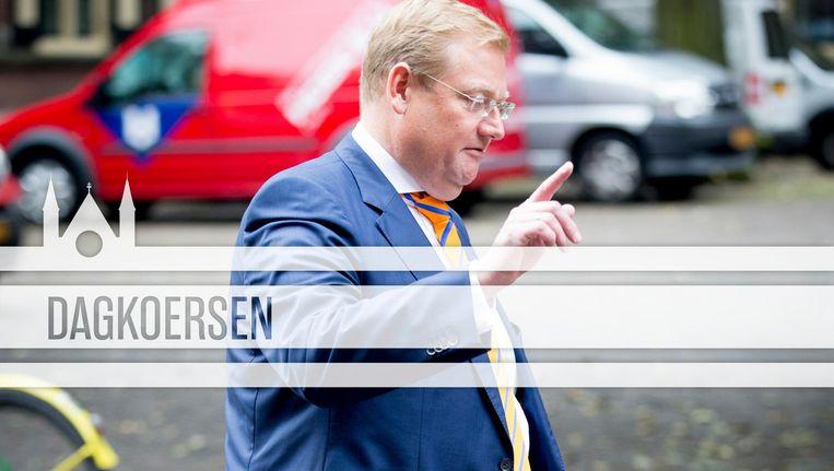 Van der Steur zegt tabee. Beeld ANP/de Volkskrant