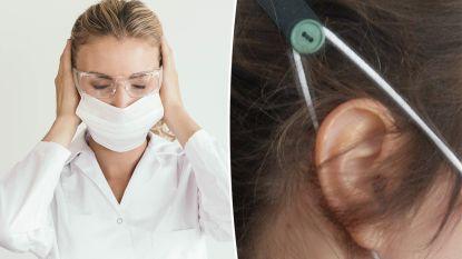 Vlaamse verpleegster toont geniaal eenvoudige oplossing voor wie hele dag pijnlijk mondmasker moet dragen