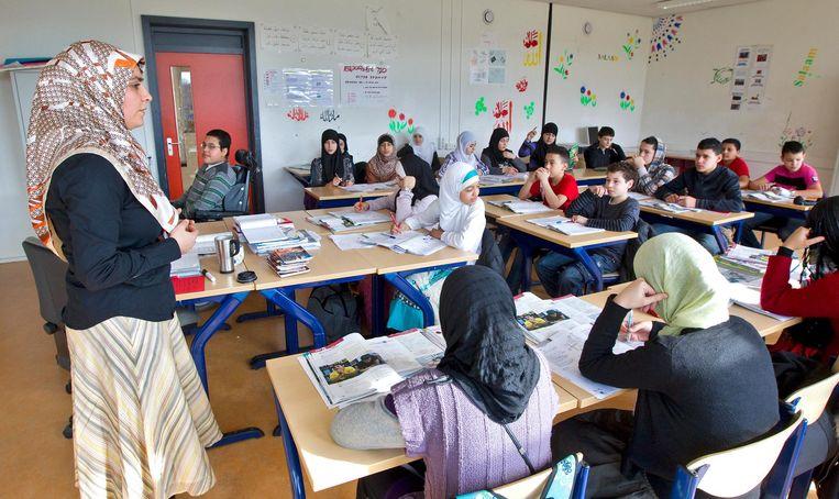 Een islamitische basisschool. Beeld ANP