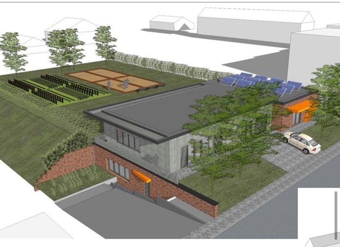 L'ébauche du nouveau centre pour Aînés Marius Meurée à Marcinelle (Charleroi)