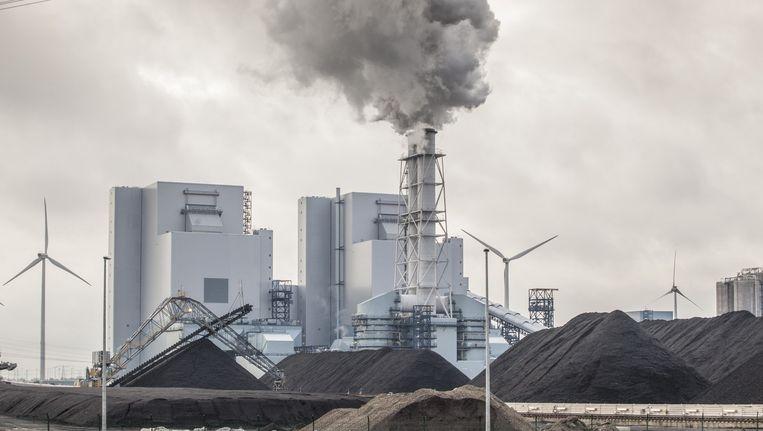 Een op kolen gestookte centrale in de Eemshaven in Groningen. Beeld .