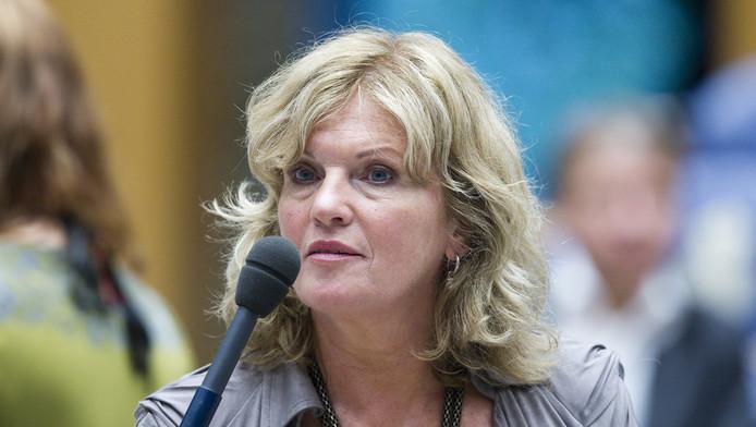 Pia Dijkstra in de Tweede Kamer in 2011