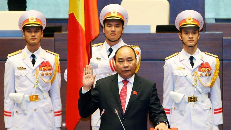 Premier Nguyen Xuan Phuc. Beeld null