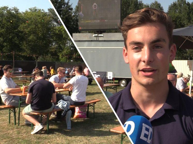 Stiphoutse jongens organiseren tourcafé op grasveld: 'De sfeer is fantastisch'