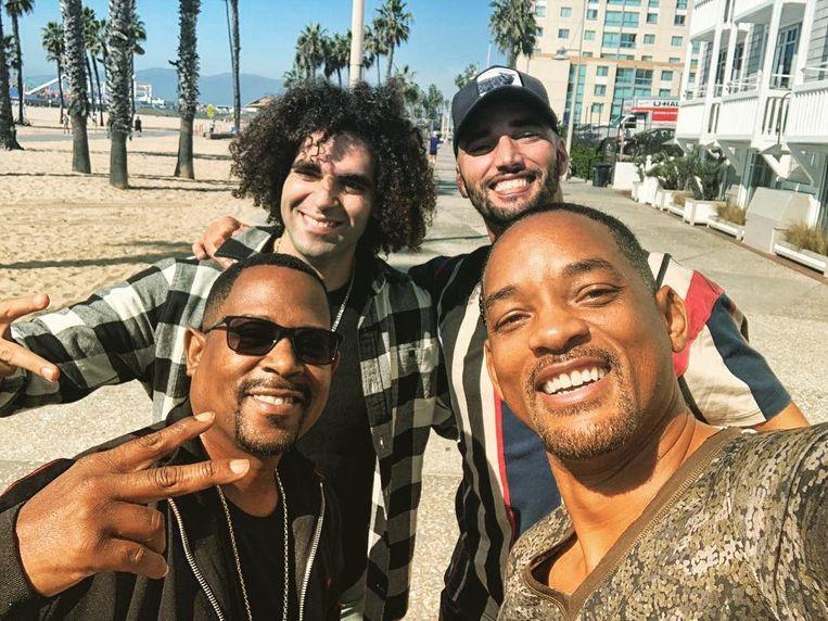 Adil en Bilall met Will Smith en Martin Lawrence