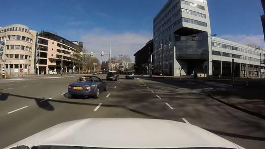Beelden van een dashcam. Foto ter illustratie.