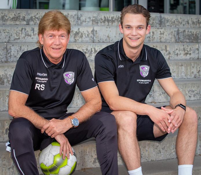 Ron Schier links op de foto. Rechts is niet zijn zoon Luca
